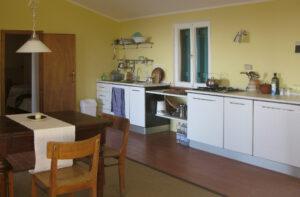 Die Wohnküche im Gästeapartment
